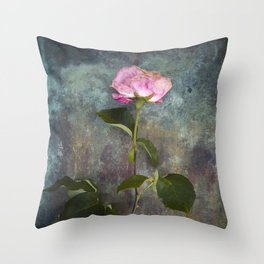 Single Wilted Rose Throw Pillow