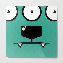 Monsters⁴ : Blue Metal Print