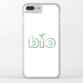 Seedling appearing from letter I to represent a new beginning Clear iPhone Case