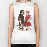 arya Biker Tanks featuring A Queen & her Knight by Noble Demons