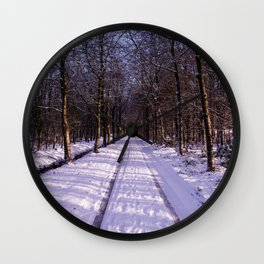Winter Path Wall Clock