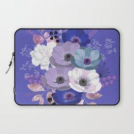 Anemones & Gardenia Blue bouquet Laptop Sleeve