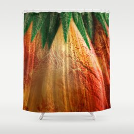 Bloody Grunge Daisy Shower Curtain