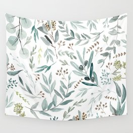 Eucalyptus pattern Wall Tapestry