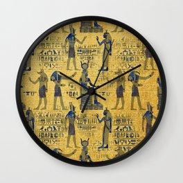 Vintage Egyptian Ornament with Lapiz Lazuli Wall Clock