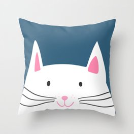 Cat head Throw Pillow
