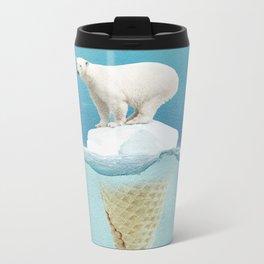 Polar ice cream cap Metal Travel Mug