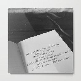 """""""Remember Me"""" poem Metal Print"""