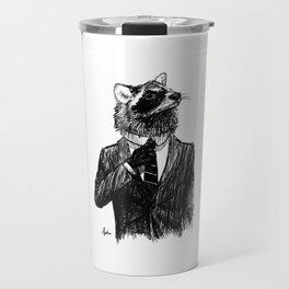Dapper Raccoon Travel Mug
