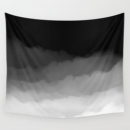 Watercolor Ombre (black/white) Wall Tapestry
