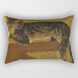 Theophile Alexandre Steinlen - Summer Cat On A Balustrade. Rectangular Pillow