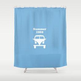 Summer 1969 -  lt. blue Shower Curtain