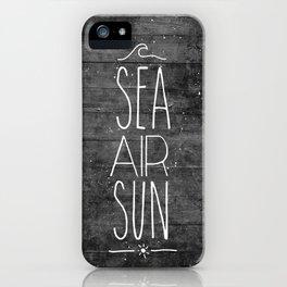 Sea, Air & Sun iPhone Case
