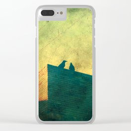 Look up for those black guardians Clear iPhone Case