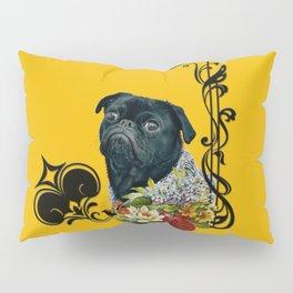 The Romantic Old School Pug Pillow Sham
