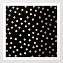 Simply Dots White Gold Sands on Midnight Black by followmeinstead