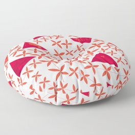 Shapes in Nature : Red Floor Pillow