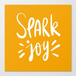 spark joy / mustard Canvas Print