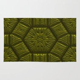 Intriguing shimmering Star Pattern,olive Rug