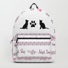 Adopt. Dont. Shop. Christmas Sweater Backpack