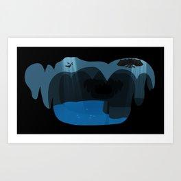 Bat cave Art Print