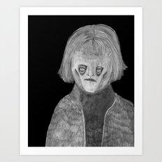 Zombies in my backyard: Amelie  Art Print