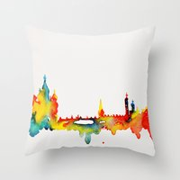 moscow Throw Pillows featuring Moscow by Talula Christian