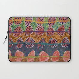 Red Round And Dotted Forms  Laptop Sleeve