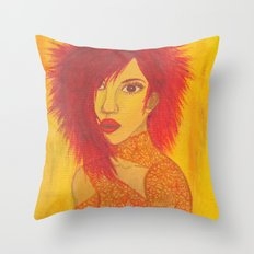 Fire Style Throw Pillow