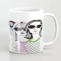 sunglasses Mugs featuring sunglasses by Emily Tumen
