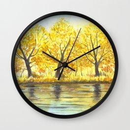 Aumntum trees Wall Clock