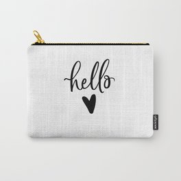 HELLO LOVE by DearLilyMae Carry-All Pouch