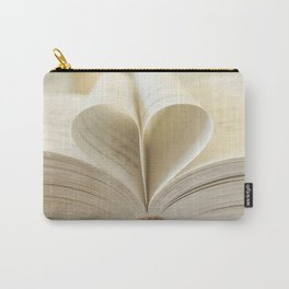Book Heart Carry-All Pouch