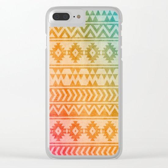 Aztec Pattern 02 Clear iPhone Case