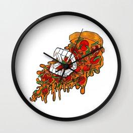 Vampire Pizza Wall Clock