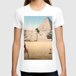 Vintage Pyramid : Grand Pyramid Gizeh Egypt 1895 T-shirt