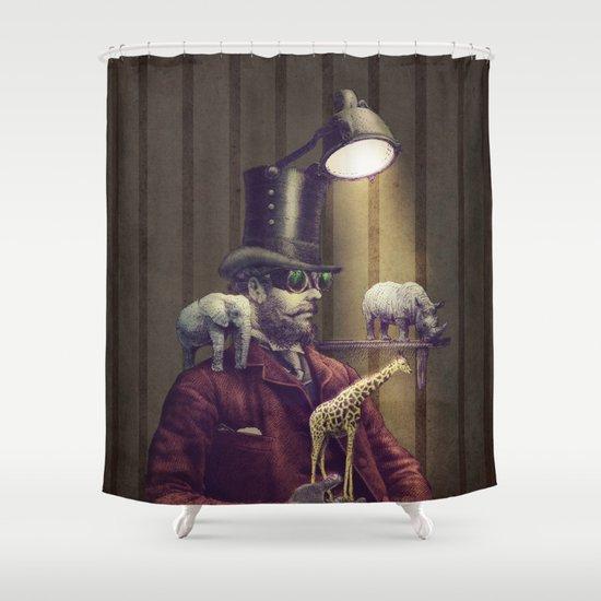 The Miniature Menagerie Shower Curtain
