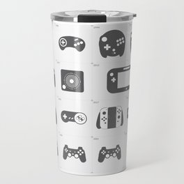The Evolution of Video Game Controllers Travel Mug