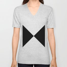 Black & White Triangles Unisex V-Neck
