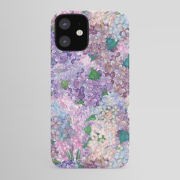 Purple and blue Lilac & Hydrangea - Flower Design iPhone Case