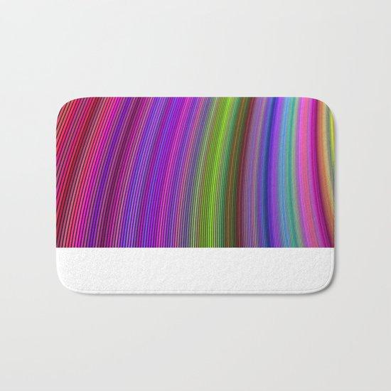 Happy spring stripes Bath Mat