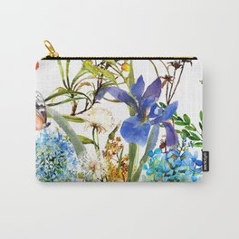 Watercolor flower garden party with butterfly Carry-All Pouch