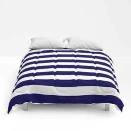 Navy Blue & White Stripes- Mix & Match with Simplicity of Life Comforters