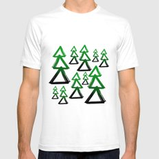 Christmas trees SMALL White Mens Fitted Tee