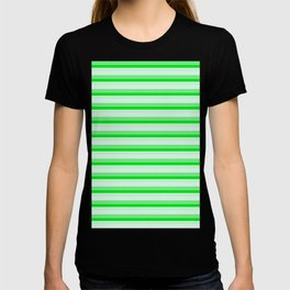 Green stripes. T-shirt