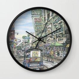One day in Bangkok Wall Clock