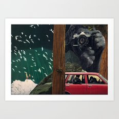 gorillas take over humanity Art Print