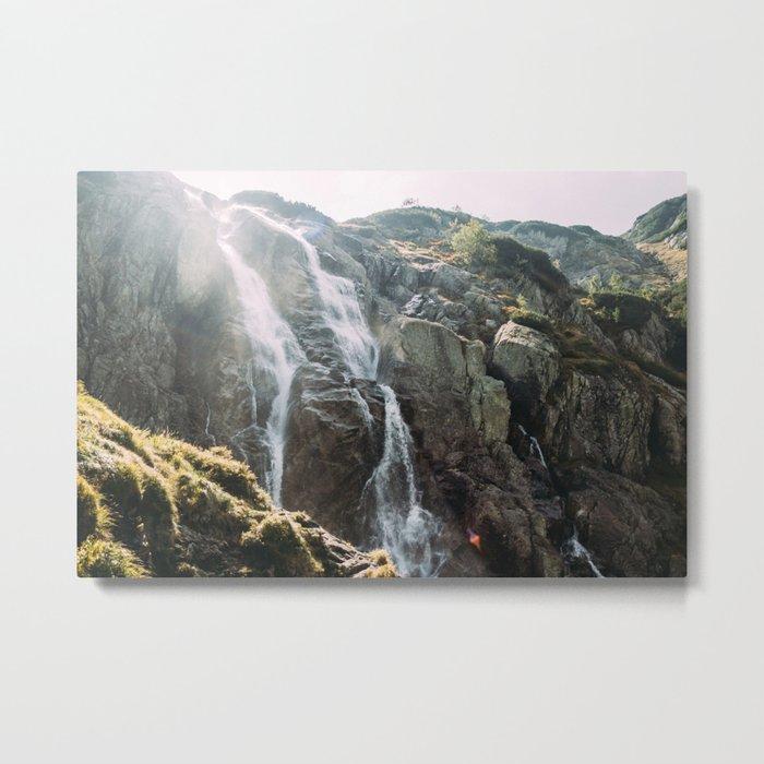 Waterfall In Sunlight Metal Print