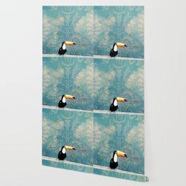 toucano tropical blue Wallpaper