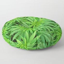 Marijuana Cannabis Weed Pot Plants Floor Pillow